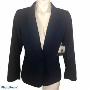 Kensie Rebekah Stretch Crepe Blazer Navy Blue M